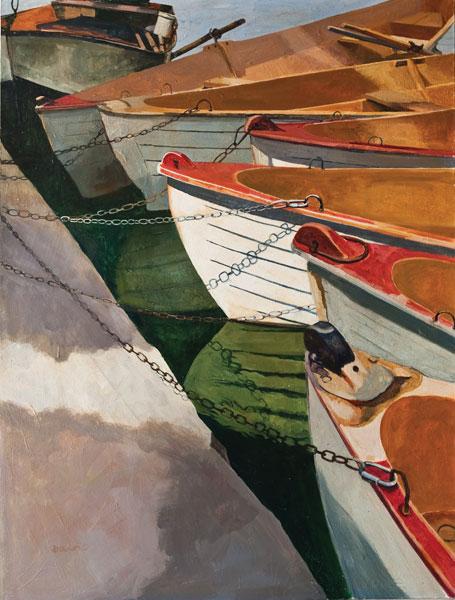 A Brigade of Boats in the Bois de Boulogne, Paris - Painting Archive | Graham Davis Paintings