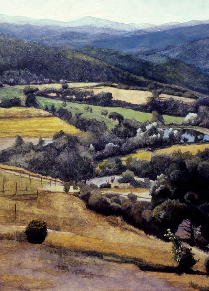 A Tranquil Afternoon in the Umbrian Hills - Painting Archive   Graham Davis Paintings