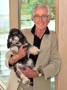 Graham Davis and his Puppy | Graham Davis Paintings
