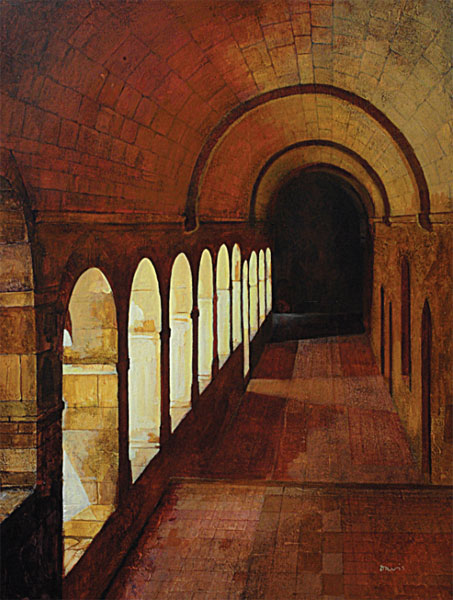Cloisters in Provence - Painting Archive | Graham Davis Paintings