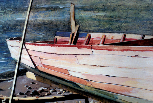 Off-Duty Fishing Boat, St. Lucia - Painting Archive | Graham Davis Paintings