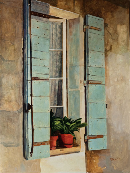 Thank Heavens for Blue Shutters - Painting Archive   Graham Davis Paintings